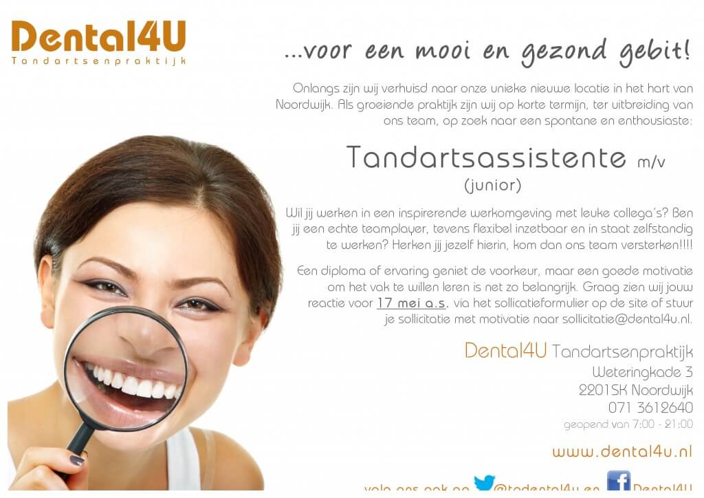advertentie Tandartsassistente (mei 2013)-1